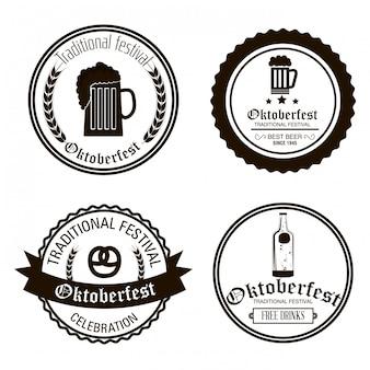 Фестиваль пива октоберфест изолирован