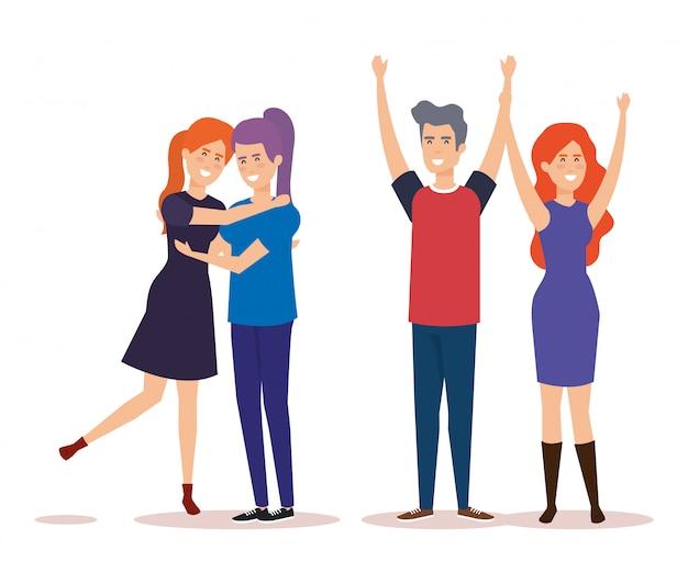 Группа людей персонажей