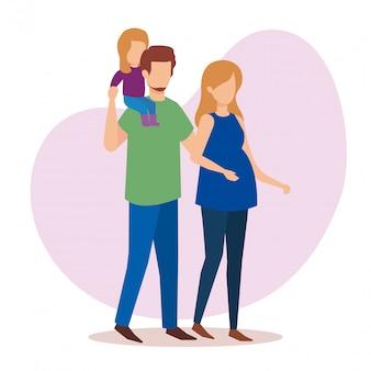 Родители соединяются с дочерью персонажей