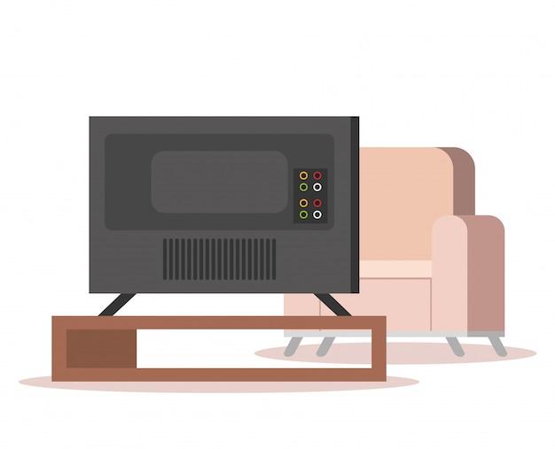 リビングルームにプラズマテレビ