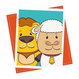 Животное и животные смешной мультфильм