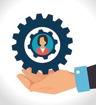 ビジネスのチームワークとリーダーシップ