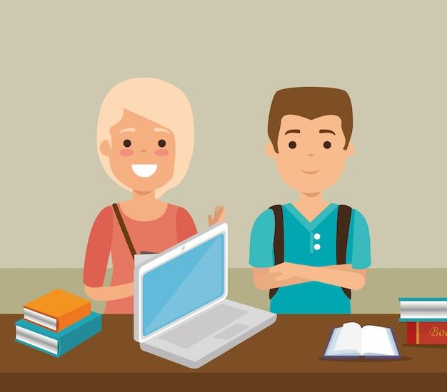Группа студентов с онлайн-образованием