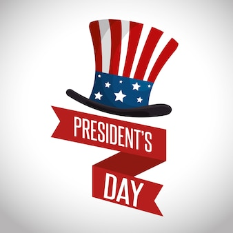 ハッピー大統領の日のポスター