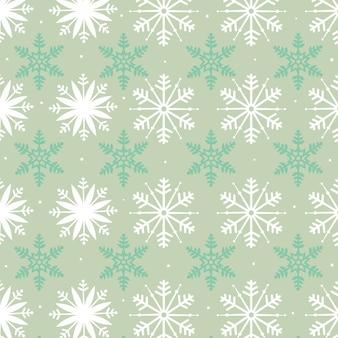 Снежинки бесшовный фон
