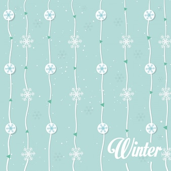 雪の花輪のシームレスパターン