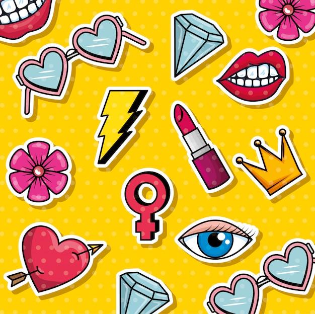 ファッショングラフィックポップアート