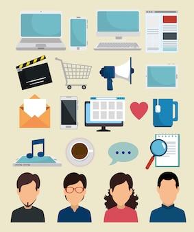 Установите социальные медиа с технологией приложений
