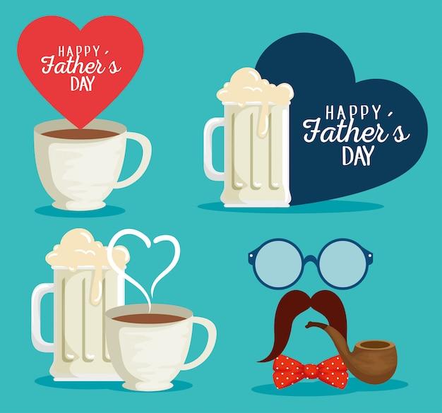 Набор кофейной чашки с сердечной картой и аксессуарами