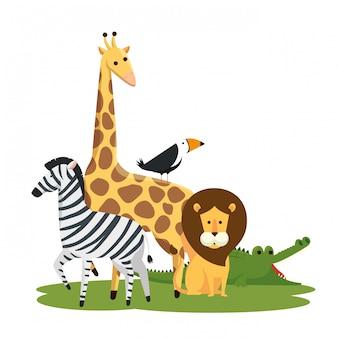 Симпатичные дикие животные в заповеднике