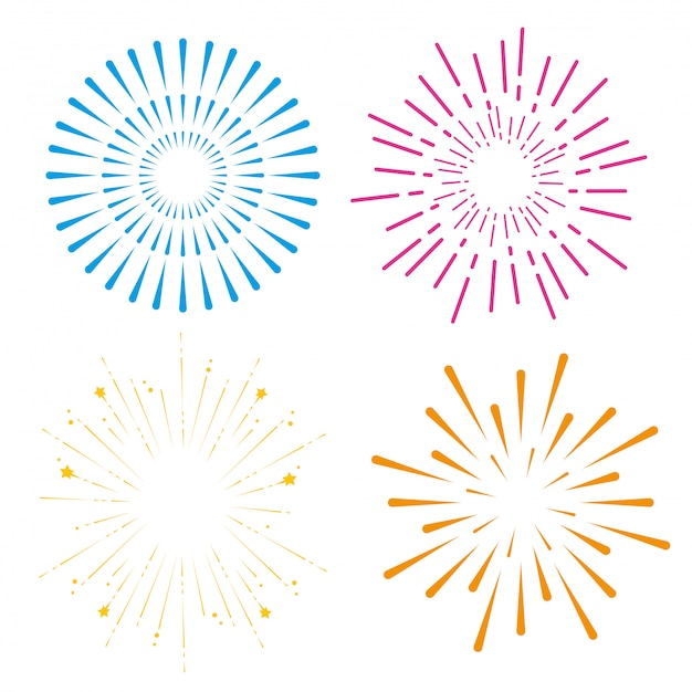 Установите фейерверк на праздник счастливого события