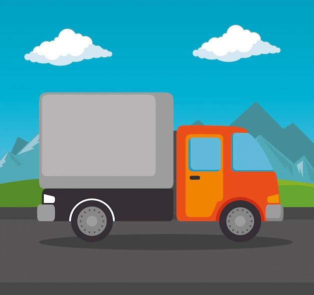 分離された配達サービストラック