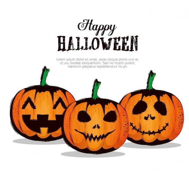 Счастливого хэллоуина с тыквами
