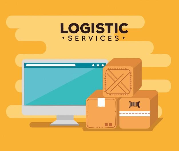 Логистические услуги с компьютером
