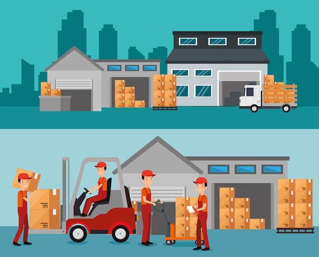 倉庫ビルでの物流サービス
