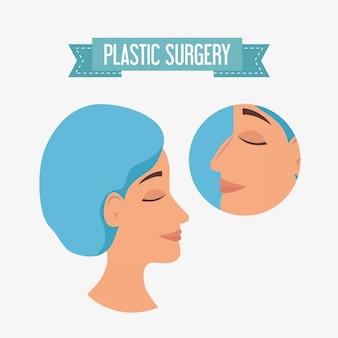 整形外科プロセスの女性