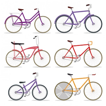 Комплект велосипедного транспорта с лепестком и цепочкой
