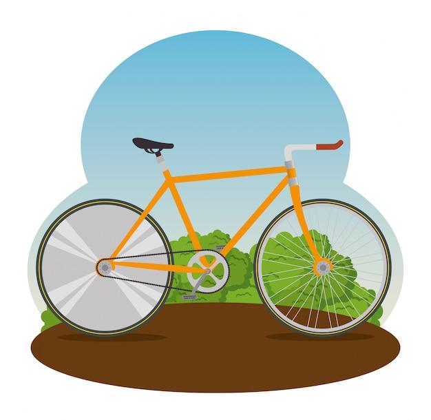Велосипед с лепестком и сиденьем