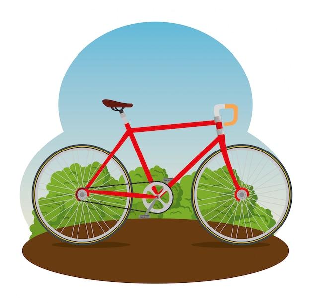 花びらと座席の図と自転車