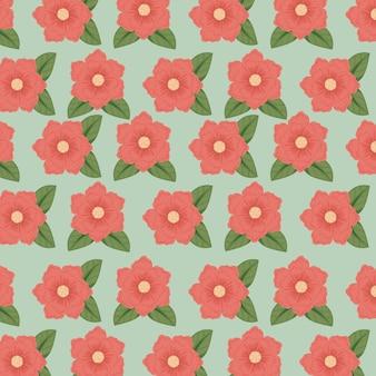 自然の花びらの背景を持つ花のスタイル