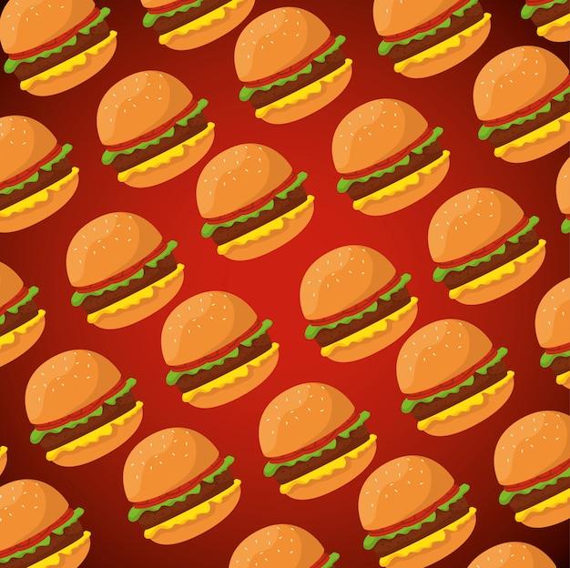Вкусный гамбургер шаблон