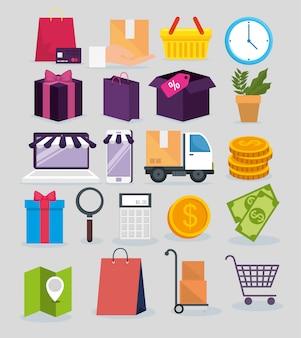 Установить покупки онлайн с адресом службы доставки