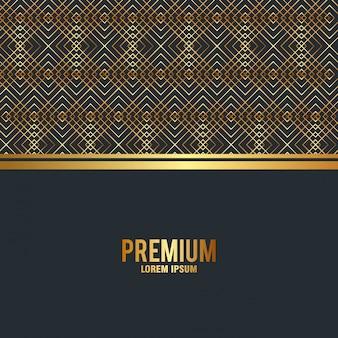 プレミアム品質のゴールデンフレームの背景