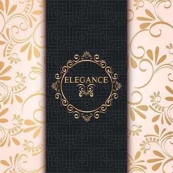 Элегантная золотая рамка в стиле