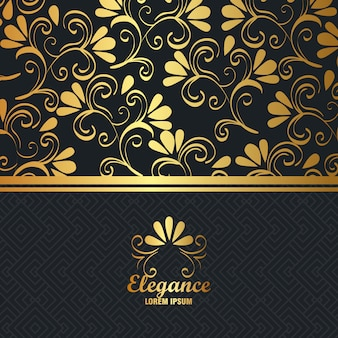 Элегантность стиля золотой фон