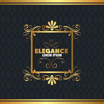 エレガンススタイルのゴールデンフレーム