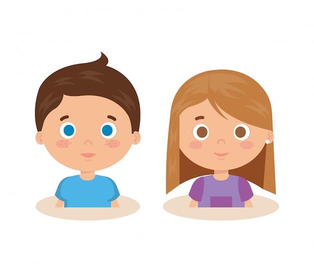 Пара маленьких детей персонажей