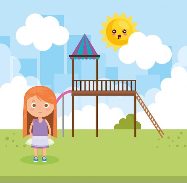 公園の少女