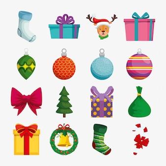 Рождественские украшения с набором иконок