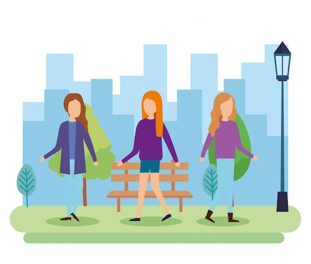 Группа людей в парке