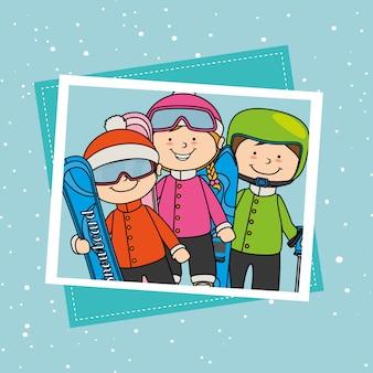 冬のスポーツとウェアアクセサリー
