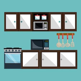 台所用品の図
