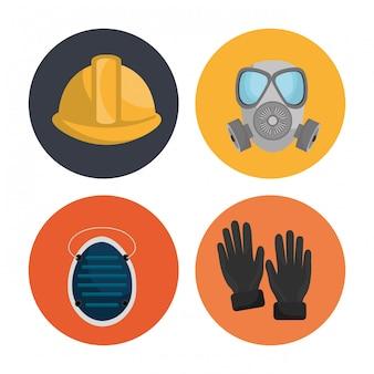 Иллюстрация оборудования для обеспечения безопасности