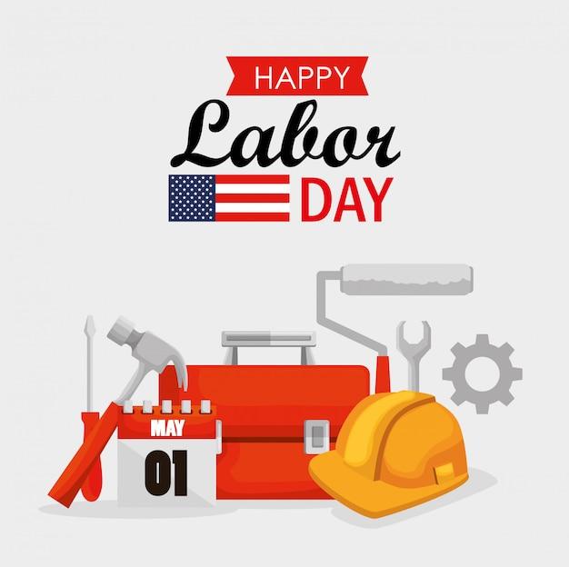 労働者の日を祝う建設ツール