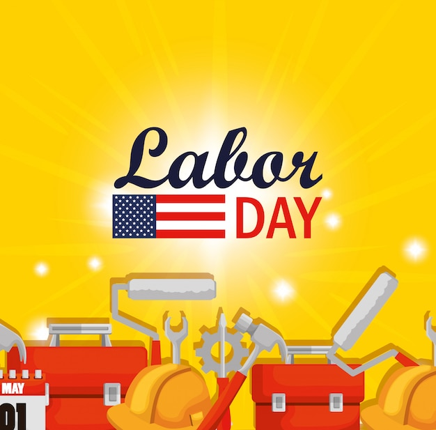 建設ツールでの労働者の日のお祝い
