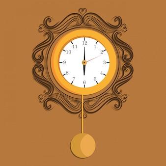 時間と時計のアイコン