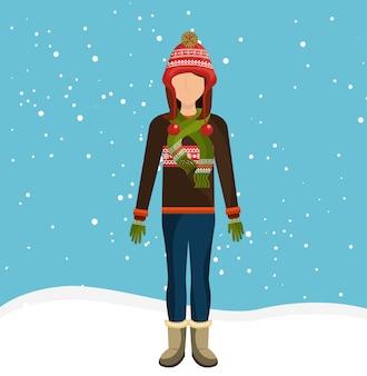 冬のファッションウェアとアクセサリー