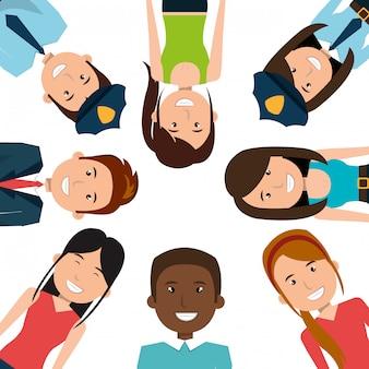 Иллюстрация разных людей
