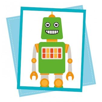 Забавный мультяшный робот
