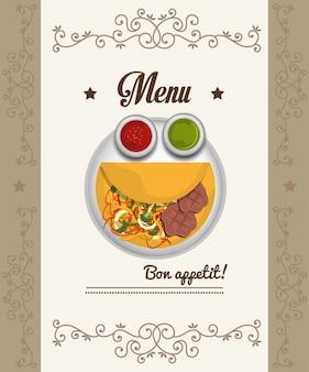 美食とレストランのメニュー