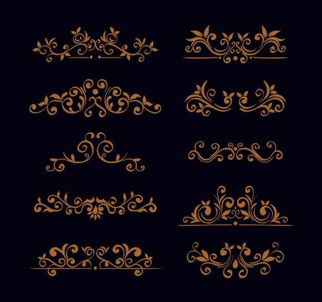 Комплект изящных декоративных бордюров