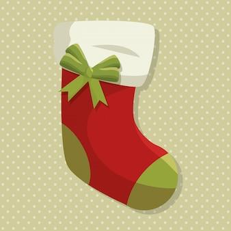 ハッピーメリークリスマスソックス