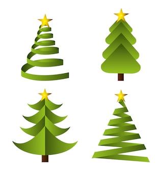 幸せな休日のクリスマスデザイン