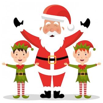 メリークリスマスのカラフルなカードデザイン