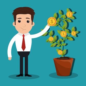 Иллюстрация исполнительного директора или бизнесмена