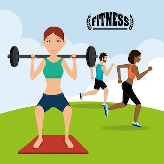 Тренажерный зал и фитнес образ жизни